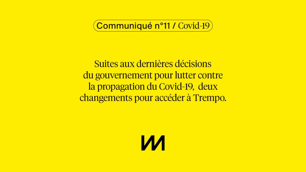 Communiqué n°11 / Covid-19